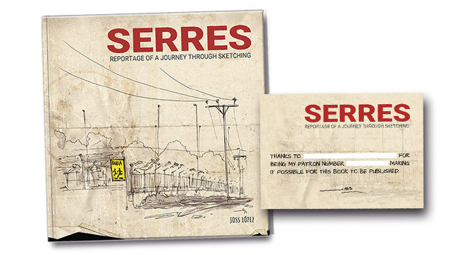 Book 'Serres - Reportage of a journey through sketching'
