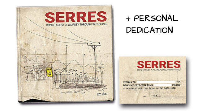 Book 'Serres' with a DEDICATION