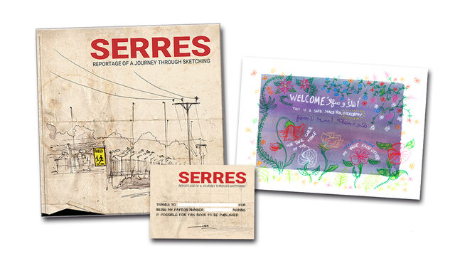PRINT S3 (Limited Edition) + Book 'Serres' with a DEDICATION