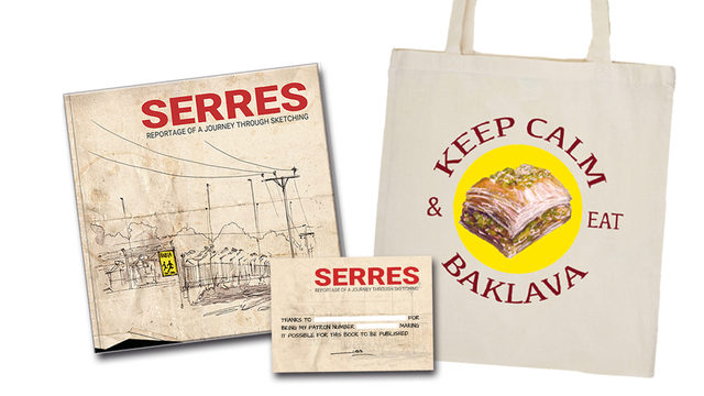 BAKLAVA 'Tote Bag' + 'Serres' Book with a DEDICATION