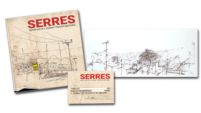 Book 'Serres' + ORIGINAL 'Serres from the roof'