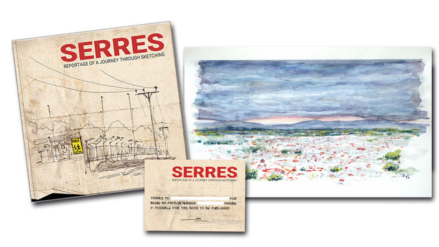 Book 'Serres' + ORIGINAL 'Serres from the Acropolis'