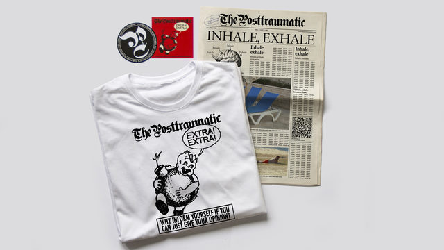 Newspaper + 2 stickers + t-shirt