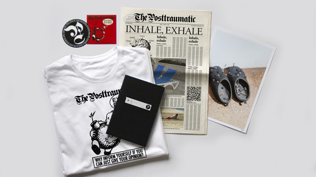 The real deal pack: Newspaper + 2 stickers + t-shirt + notebook + limited edition print