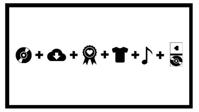 2 Cds físicos firmados + 2 digitales + agradecimientos en libreto cd+ partituras + 2 camiseta + Productor Ejecutivo en contraportada del cd