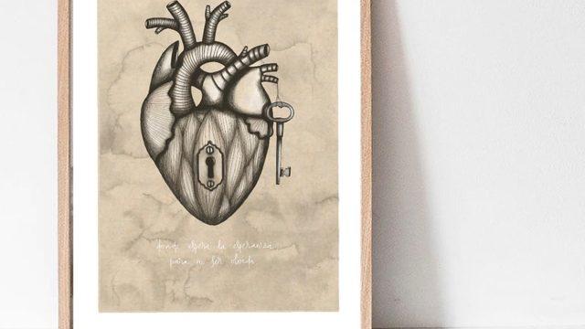 "Iris Serrano's A3 Print ""Heart"""