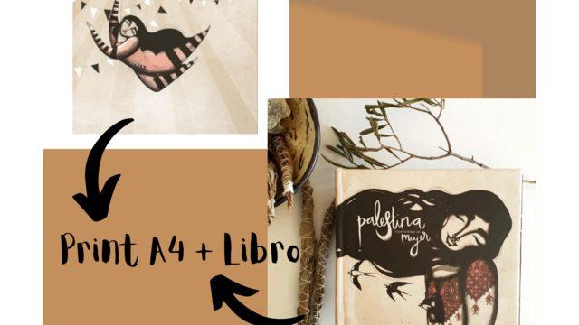 Print A4 'The trapeze artist' by Iris Serrano + Book 'Palestine has a woman's name'