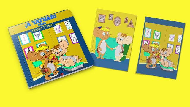 El libro, ¡A Tatuar con Chesko y Erik! + 2 laminas de libro.