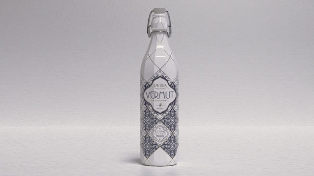 Botella de vermut