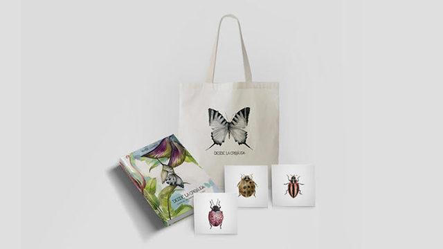 El libro + totebag + 3 prints bichitos (15 x 15 cm)