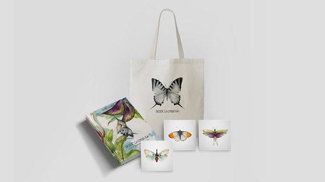 El libro + totebag + 3 prints mariposas(15 x 15 cm)