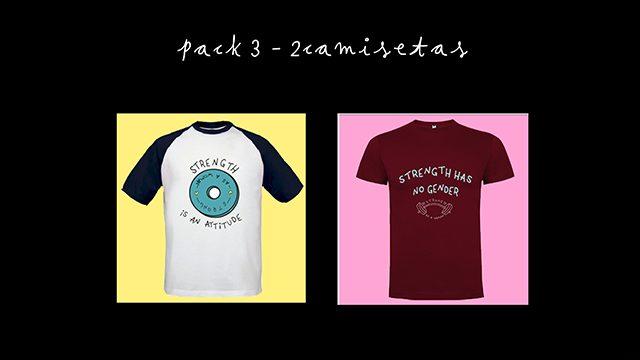 PACK 3 - 2 camisetas