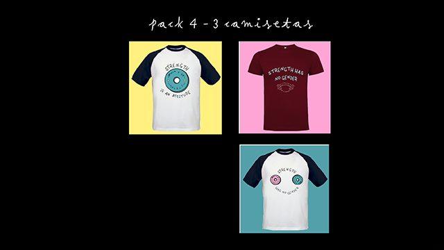 PACK 4 - 3 camisetas