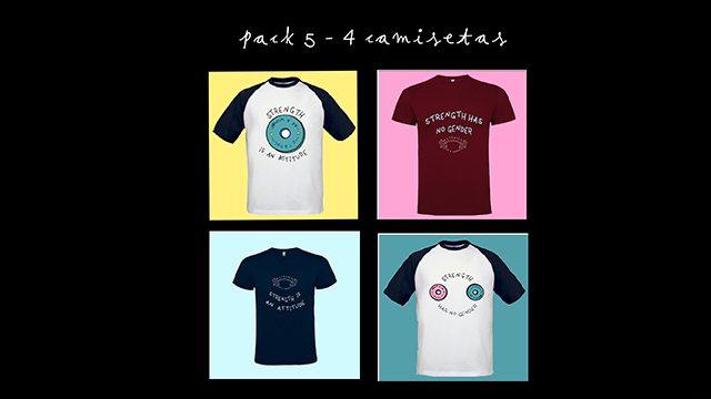 PACK 5 - 4 camisetas