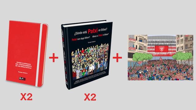 PACK 2 DIARIOS + 2 libros ¿DÓNDE ESTÁ PATXI EN BILBAO? + LÁMINA