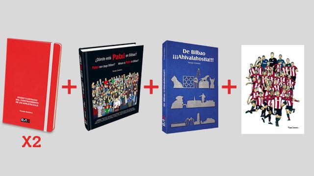 """PACK 2 DIARIOS + libro ¿DÓNDE ESTÁ PATXI EN BILBAO? + Libro """"DE BILBAO ¡¡¡AHIVALAHOSTIA!!!"""" + LÁMINA"""