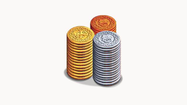 Set de 40 monedas de plástico