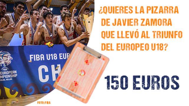 La pizarra de Javi Zamora para ser  🏆🥇 Campeón de Europa U18 en 2019
