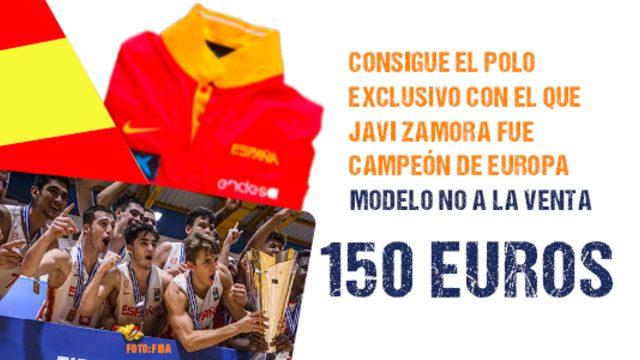 ¡El polo de Campeón de Europa de Javi Zamora con la selección española U18!
