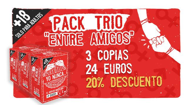 Pack trío de amigos/as