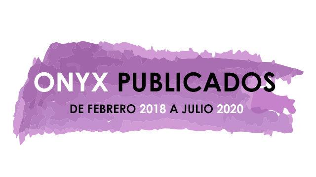 ONYX 6 LIBROS YA PUBLICADOS 2018/2020