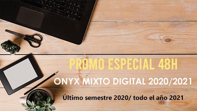 OFERTA  48H 10 LIBROS DIGITAL ONYX MIXTO 2020/2021