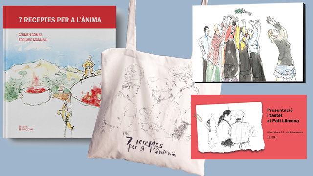 7. Llibre + bossa amb ànima + imant de nevera + tastet de presentació