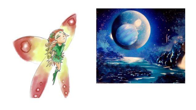 Láminas A3 universo mágico