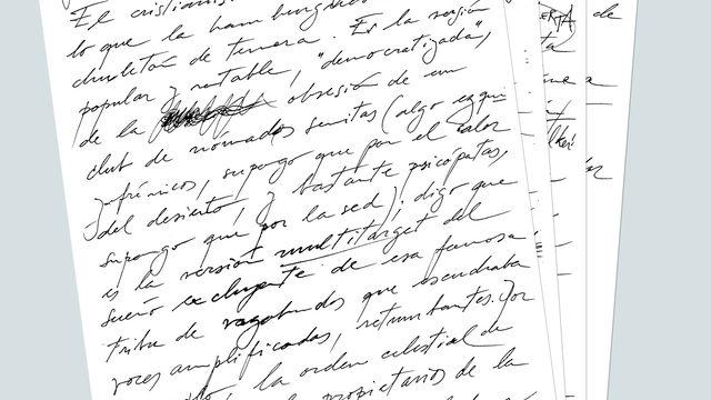 Introducción manuscrita inédita, por José Luis Ducid