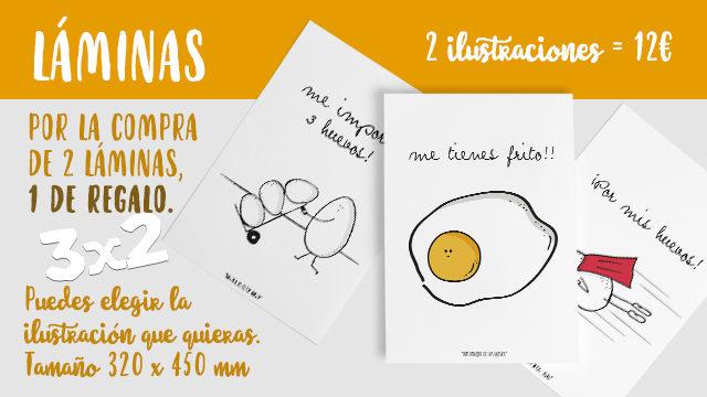 LÁMINAS DE LOS HUEVOS 3 X 2.