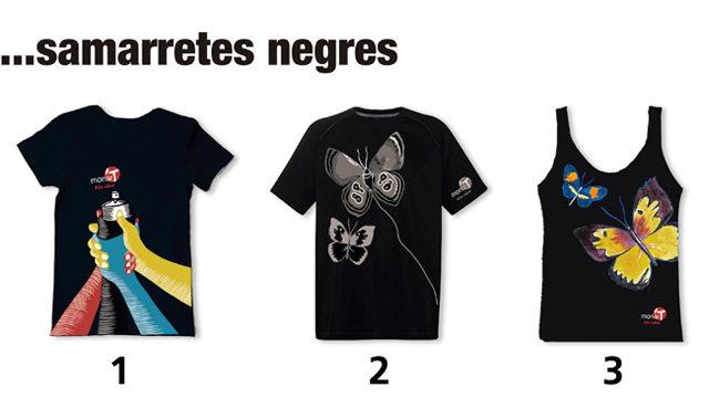 Samarreta negra amb disseny artista