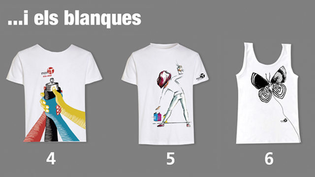 Samarreta blanca amb disseny artista