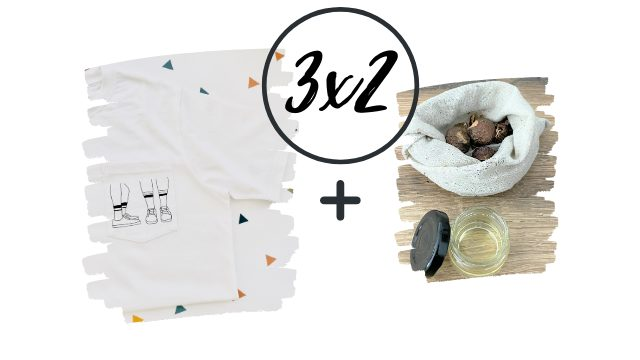3x2 Pack Pro deal: 3 T-Shirts + 3 Laundry Eco Kits