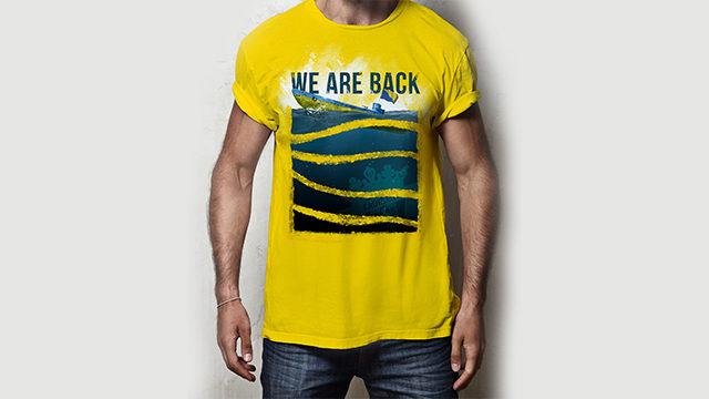 """Camiseta edición limitada """"WHE ARE BACK"""" + Lamina ( 3 camisetas)"""