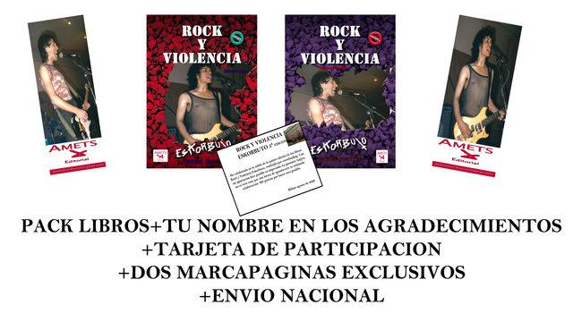 Pack libros Rock y Violencia Eskorbuto Dedicados