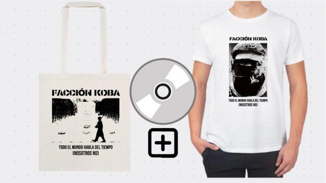 CD + Camiseta O bolsa de tela Facción Koba
