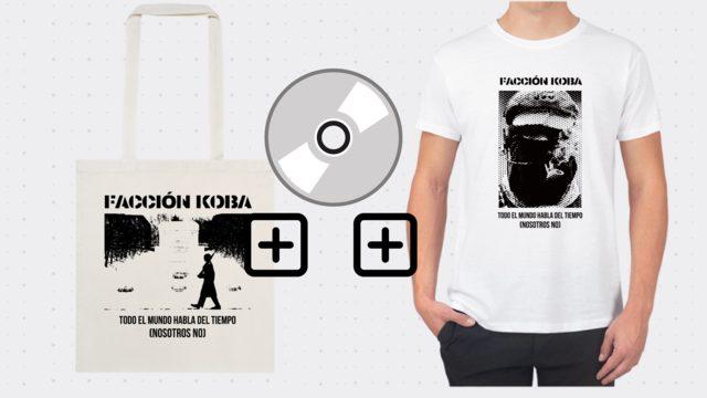 PACK COMPLETO: CD + Camiseta + Bolsa de tela Facción Koba