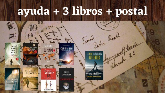 Ayuda + 3 libros PDF + postal