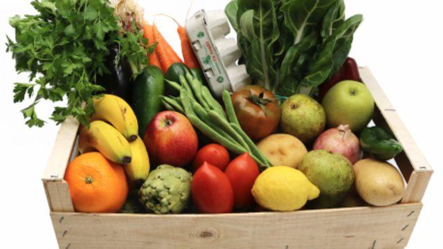 Cesta de verduras mediana