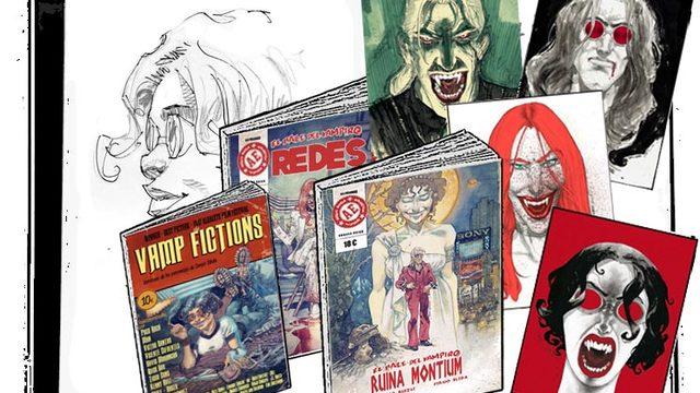 Cómic dedicado + agradecimiento + cómic REDES + Vamp Fictions + 4 lámina