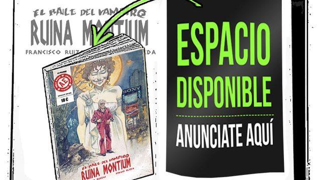 Cómic dedicado + agradecimiento + Para spónsors: UNA PÁGINA COMPLETA DE PUBLICIDAD en B/N dentro del libro en toda la tirada.