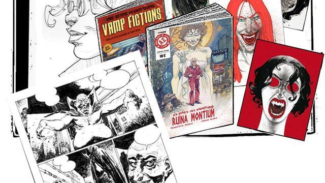 Cómic dedicado + agradecimiento + Vamp Fictions + 4 láminas + Página original REDES