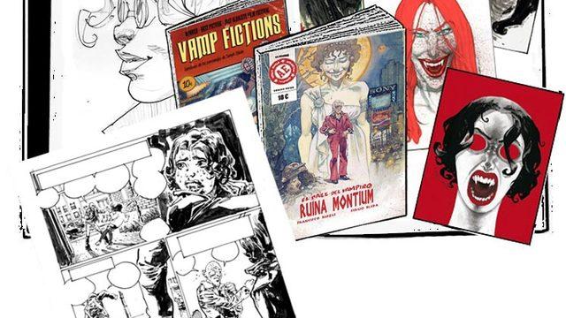 Cómic dedicado + agradecimiento + Vamp Fictions + 4 láminas + Página original LA PRIMERA VEZ