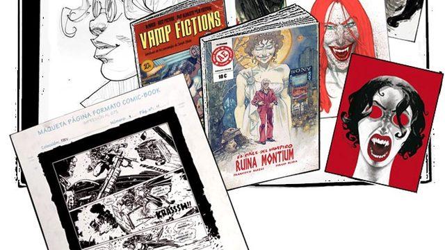 Cómic dedicado + agradecimiento + Vamp Fictions + 4 láminas + Página original El Baile del Vampiro