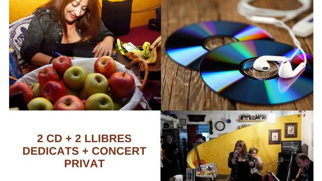 2 CD + 2 DEDICATED BOOKS + PRIVATE CONCERT AT THE PATRON'S HOUSE WITH DUO (GUITARIST AND VOCALIST)