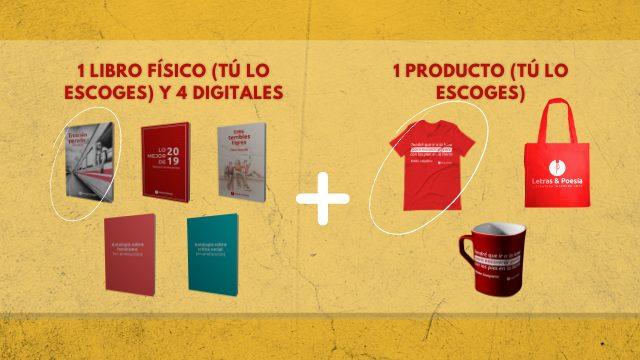 1 libro físico + 4 libros digitales + 1 producto