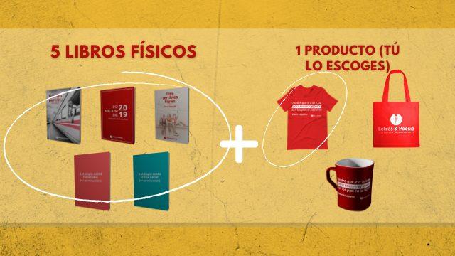 5 libros físicos + 1 producto