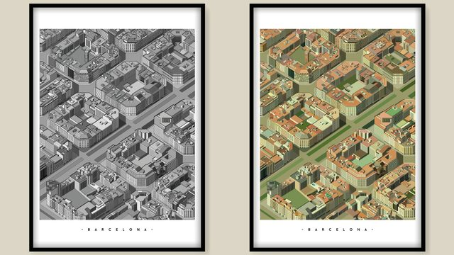x2 ilustraciones A1 59,4x84,1cm