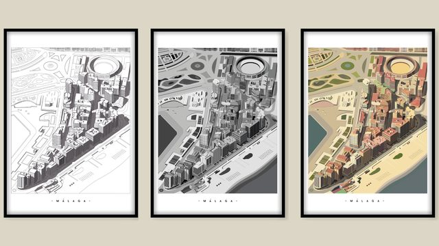 x3 ilustraciones A1 (59,4x84,1cm)