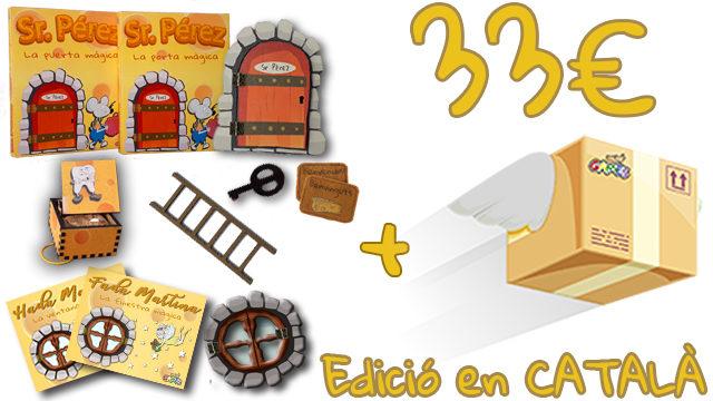 La Porta Màgica del Sr. Pérez (Edició en CATALÀ) + Caixeta de les Dents + Finestra Màgica de la Fada Martina
